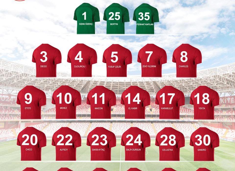 Antalyaspor yeni sezon forma numaralarını açıkladı