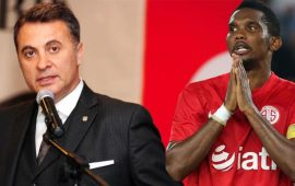 Beşiktaş, Eto'o'nun cezasını Antalyaspor taraftarına kesti
