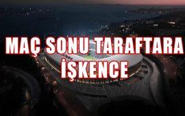 Beşiktaş-Antalyaspor maçı sonrası taraftara müdahale