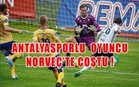 Antalyaspor'un oyuncusu Norveç'te coştu