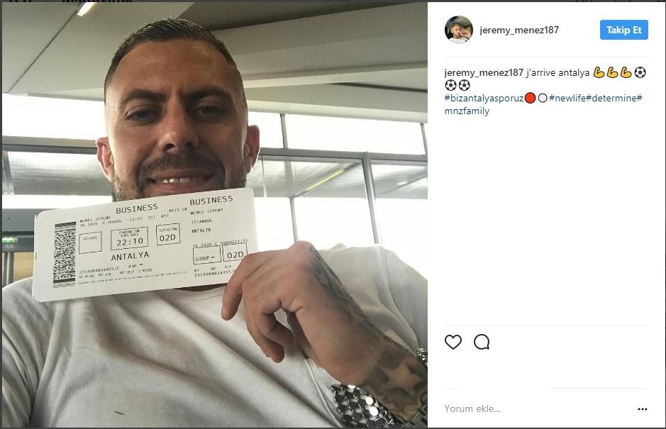 Jeremy Menez,Antalya'ya Geliyor !