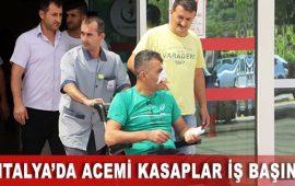 Antalya'da acemi kasaplar iş başında
