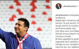 Ali Şafak Öztürk'ten duygusal paylaşım