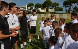 Ali Şafak Öztürk, Real Madrid Futbol Akademisi'ni açtı! Dünya yıldızı Seedorf açılışta yer aldı!