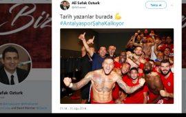 Ali Şafak Öztürk göreve geldi, Antalyaspor taraftarı coştu
