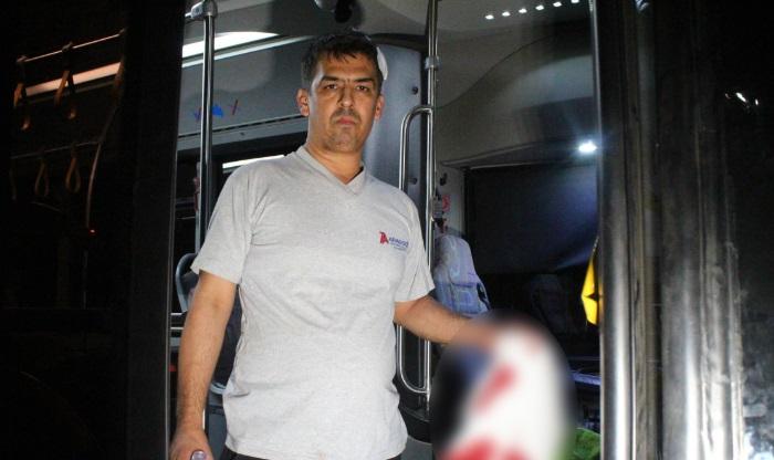 Antalya'da yolcu otobüsünde panik!