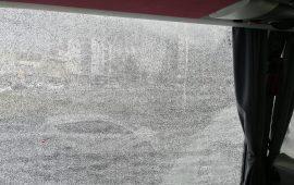 Antalyaspor'a taşlı saldırı