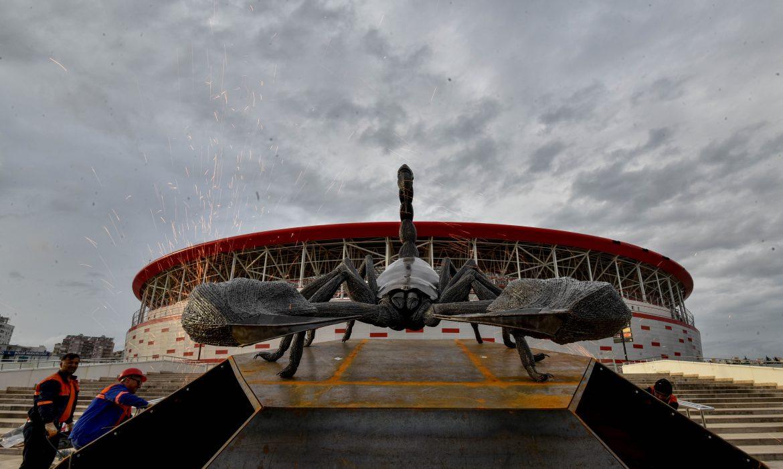Antalyaspor'un evine dev 'Akrep' heykeli