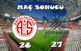 MS | CIP Travel Antalyaspor 29 – 28 Adıyaman Belediyespor