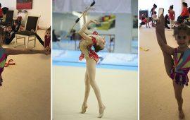 Antalyasporlu cimnastikçiler İzmir'de yarıştı