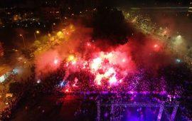 Antalyaspor taraftarından 07.07 kutlaması