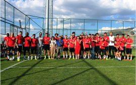 Antalyaspor mavi kurdele taktı