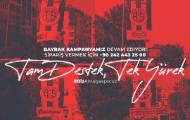 Antalyaspor'da bayrak kampanyası devam ediyor