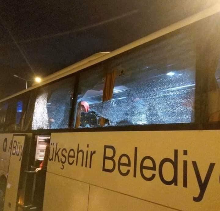 Antalyaspor taraftarına taşlı saldırı
